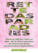 Print-Anzeige  # 349067 für Greenpeace Plakat-Wettbewerb 2014: Sujet für Plakat Kampagne zum Schutz des Sumatra Tigers Wettbewerb