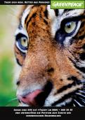 Print-Anzeige  # 343229 für Greenpeace Plakat-Wettbewerb 2014: Sujet für Plakat Kampagne zum Schutz des Sumatra Tigers Wettbewerb