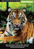 Print-Anzeige  # 343235 für Greenpeace Plakat-Wettbewerb 2014: Sujet für Plakat Kampagne zum Schutz des Sumatra Tigers Wettbewerb