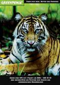 Print-Anzeige  # 341865 für Greenpeace Plakat-Wettbewerb 2014: Sujet für Plakat Kampagne zum Schutz des Sumatra Tigers Wettbewerb
