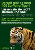 Print-Anzeige  # 349962 für Greenpeace Plakat-Wettbewerb 2014: Sujet für Plakat Kampagne zum Schutz des Sumatra Tigers Wettbewerb