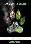 Print-Anzeige  # 346510 für Greenpeace Plakat-Wettbewerb 2014: Sujet für Plakat Kampagne zum Schutz des Sumatra Tigers Wettbewerb