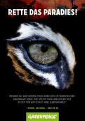 Print-Anzeige  # 347818 für Greenpeace Plakat-Wettbewerb 2014: Sujet für Plakat Kampagne zum Schutz des Sumatra Tigers Wettbewerb