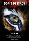 Print-Anzeige  # 346432 für Greenpeace Plakat-Wettbewerb 2014: Sujet für Plakat Kampagne zum Schutz des Sumatra Tigers Wettbewerb