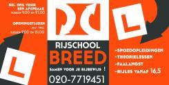 Advertentie, Print # 138477 voor Raam bestickering raampartij rijschool  wedstrijd