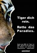 Print ad # 347008 for Greenpeace Poster contest 2014: Campaign for the protection of the Sumatra Tiger contest
