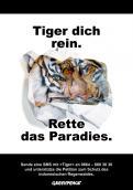 Print-Anzeige  # 347009 für Greenpeace Plakat-Wettbewerb 2014: Sujet für Plakat Kampagne zum Schutz des Sumatra Tigers Wettbewerb