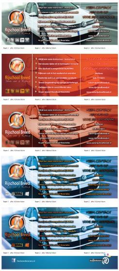 Advertentie, Print # 137752 voor Raam bestickering raampartij rijschool  wedstrijd