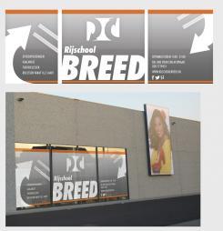 Advertentie, Print # 139917 voor Raam bestickering raampartij rijschool  wedstrijd