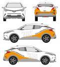 Anderes  # 872337 für Design einer KFZ-Beschriftung, Firmenwerbung auf Toyota C-HR Wettbewerb
