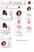 Banner # 277486 voor Banner voor webshop in natuurlijke haarverzorging voor krullend en kroeshaar wedstrijd