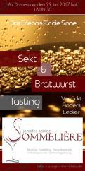 Flyer, Eintrittskarte, Einladung  # 731606 für Sekt & Bratwurst Tasting Wettbewerb