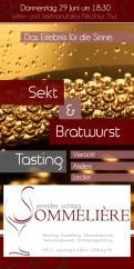 Flyer, Eintrittskarte, Einladung  # 731610 für Sekt & Bratwurst Tasting Wettbewerb