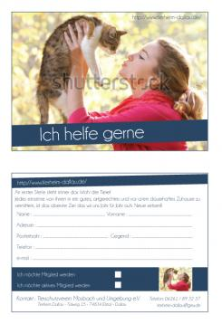 Flyer, Eintrittskarte, Einladung  # 328980 für Tierheimflyer zur werbung von neuen Mitgliedern. Wettbewerb
