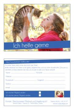 Flyer, Eintrittskarte, Einladung  # 329182 für Tierheimflyer zur werbung von neuen Mitgliedern. Wettbewerb