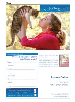 Flyer, Eintrittskarte, Einladung  # 329690 für Tierheimflyer zur werbung von neuen Mitgliedern. Wettbewerb