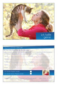 Flyer, Eintrittskarte, Einladung  # 329304 für Tierheimflyer zur werbung von neuen Mitgliedern. Wettbewerb