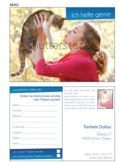 Flyer, Eintrittskarte, Einladung  # 329433 für Tierheimflyer zur werbung von neuen Mitgliedern. Wettbewerb