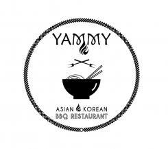 Logo # 1084614 voor ontwerp een horeca logo voor een nieuw te openen asian korean bbq restaurant wedstrijd