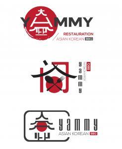Logo # 1089433 voor ontwerp een horeca logo voor een nieuw te openen asian korean bbq restaurant wedstrijd