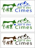 Logo design # 1105927 for Logo for a veterinary practice specialized in large animals in the french Alps contest