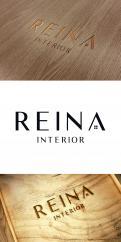 Logo & stationery # 1237439 for Logo for interior design  Reina  stam en staal  contest