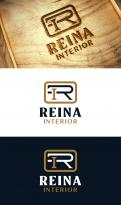 Logo & stationery # 1237453 for Logo for interior design  Reina  stam en staal  contest