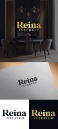 Logo & stationery # 1235474 for Logo for interior design  Reina  stam en staal  contest