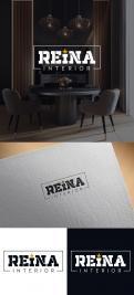 Logo & stationery # 1235488 for Logo for interior design  Reina  stam en staal  contest