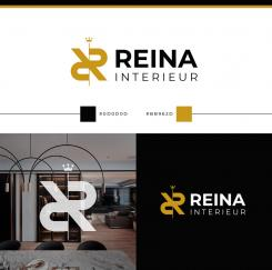 Logo & stationery # 1235737 for Logo for interior design  Reina  stam en staal  contest