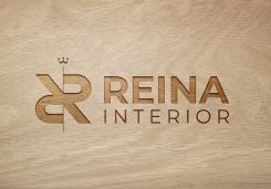 Logo & stationery # 1235352 for Logo for interior design  Reina  stam en staal  contest