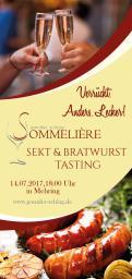 Flyer, Eintrittskarte, Einladung  # 731981 für Sekt & Bratwurst Tasting Wettbewerb