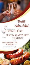Flyer, Eintrittskarte, Einladung  # 731987 für Sekt & Bratwurst Tasting Wettbewerb