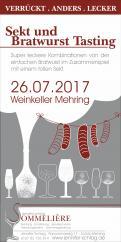 Flyer, Eintrittskarte, Einladung  # 731961 für Sekt & Bratwurst Tasting Wettbewerb