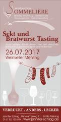 Flyer, Eintrittskarte, Einladung  # 731984 für Sekt & Bratwurst Tasting Wettbewerb