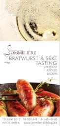 Flyer, Eintrittskarte, Einladung  # 731224 für Sekt & Bratwurst Tasting Wettbewerb