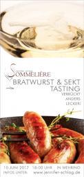 Flyer, Eintrittskarte, Einladung  # 731225 für Sekt & Bratwurst Tasting Wettbewerb