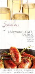 Flyer, Eintrittskarte, Einladung  # 731252 für Sekt & Bratwurst Tasting Wettbewerb
