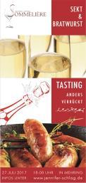 Flyer, Eintrittskarte, Einladung  # 732097 für Sekt & Bratwurst Tasting Wettbewerb