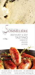 Flyer, Eintrittskarte, Einladung  # 731198 für Sekt & Bratwurst Tasting Wettbewerb