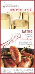 Flyer, Eintrittskarte, Einladung  # 732012 für Sekt & Bratwurst Tasting Wettbewerb