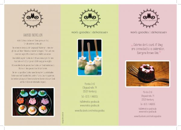 designs by taniastuchl advertising flyer brochure for cake company