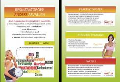Flyer # 365209 voor A5-Flyer Resultaatgroep 'Anders Afvallen' wedstrijd