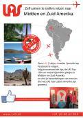 Flyer # 242646 voor Ontwerp een triggerend A6-flyer (dubbelzijdig) voor reisbureau LAS | Latijns Amerika Specialist op de 50+ beurs. wedstrijd