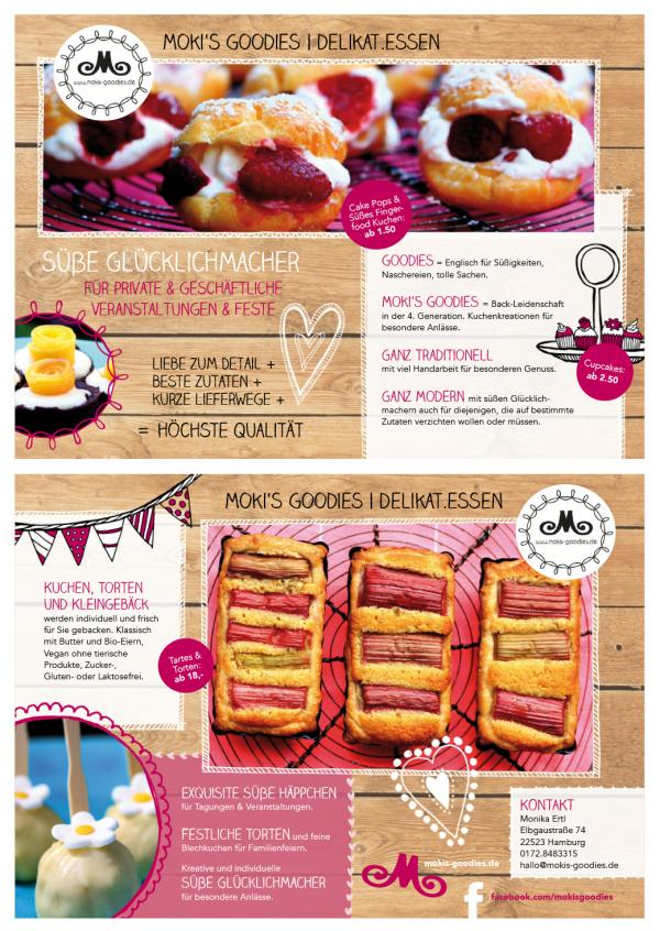 designs by revista advertising flyer brochure for cake company