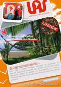 Flyer # 242620 voor Ontwerp een triggerend A6-flyer (dubbelzijdig) voor reisbureau LAS | Latijns Amerika Specialist op de 50+ beurs. wedstrijd