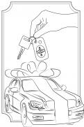 Visitekaartje # 264599 voor lijntekening voor cadeau bij aankoop auto wedstrijd