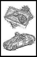 Visitekaartje # 265872 voor lijntekening voor cadeau bij aankoop auto wedstrijd