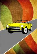 Visitekaartje # 230199 voor retro opdruk voor shirt over auto / motoren wedstrijd
