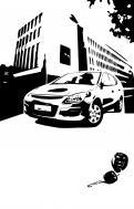 Visitekaartje # 268100 voor lijntekening voor cadeau bij aankoop auto wedstrijd